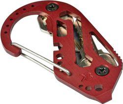 Klíčenka KeyBiner hliník-červená