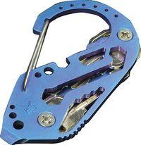 Klíčenka KeyBiner titan-modrá