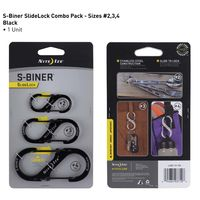 Nite Ize S-BINER® SLIDELOCK®-3 Pack-Black