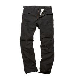 Kalhoty Vintage Industries M65 Heavy Satin - černé