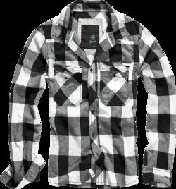 Brandit Check Shirt černobílá