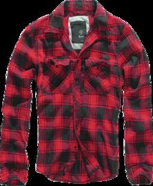 Brandit Check Shirt černo/červená kostka