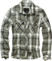 Brandit Check Shirt olivová kostka