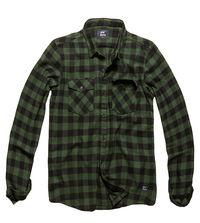 Košile Harley kostkovaná zelená