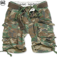 Surplus Division Shorts Belted woodland