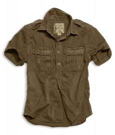 Surplus košile hnědá Raw Vintage Shirt 1/2