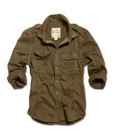Surplus košile hnědá Raw Vintage Shirt 1/1