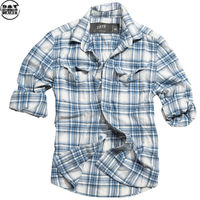 Surplus košile Woodcutter modrá