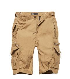 Kraťasy Vintage Industries Gandor shorts - safari