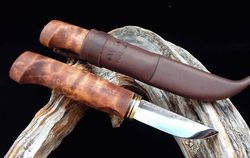 WoodsKnife tradiční Perinnepuukko 77mm hnědý