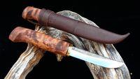 WoodsKnife tradiční Perinnepuukko 105mm hnědý
