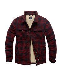 Košile zateplená Class sherpa Vintage industries - červená