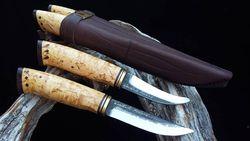 WoodsKnife Man in Hunting puukko Double 95/78mm