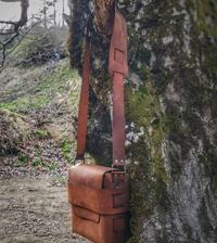 Bushcraft kožená taška přes rameno