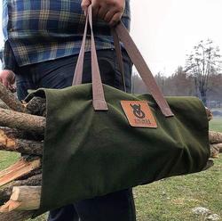 Bushcraft plátěná taška na dřevo
