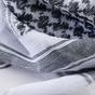 Šátek Palestina Shemag Bílo-černý