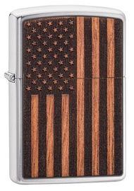 Zippo 21909 WOODCHUCK USA AMERICAN FLAG