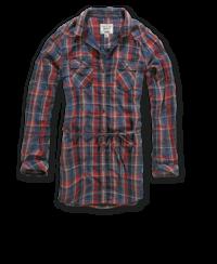 Brandit Gracy Longshirt červeno/modrá kostka