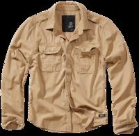 Brandit Vintage Shirt longsleeve camel