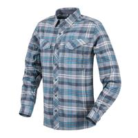 Košile Helikon Defender MK2 Pilgrim Shirt kostkovaná - Modrá