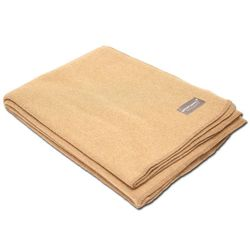 Vlněná deka (225 x 150 CM) - Camel / Khaki