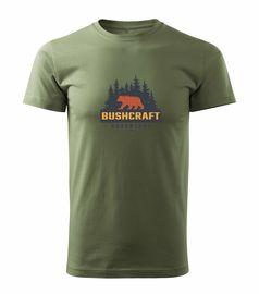 Tričko Bushcraft medvěd - khaki oliv