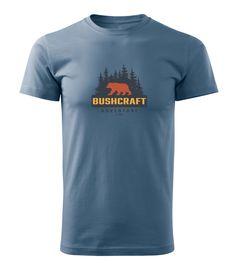 Tričko Bushcraft medvěd - modré denim