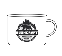 Smaltovaný plecháček - Bushcraft Medvěd 0,37 l