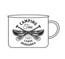 Smaltovaný plecháček - Canoe Berounka 0,37 l