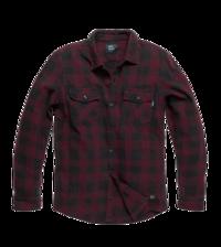 Košile Globe Heavy Weight Shirt kostkovaná Burgundy