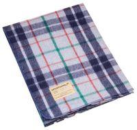Vlněná deka (225 x 150 CM) - Kostkovaná Šedo/Modrá