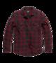 Košile Globe Heavy Weight Shirt kostkovaná Red