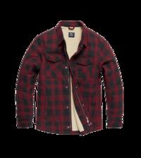 Košile zateplená Craft HeavyWeight  Sherpa  kostkovaná Vintage industries - červená