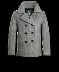 Kabát Brandit Pea Coat antracit heringbone