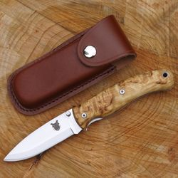 TBS Boar uhlíkový zavírací nůž s pojistkou - Bříza