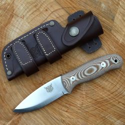 TBS Lynx Bushcraft Knife - Natural Micarta - N695 Stainless Steel